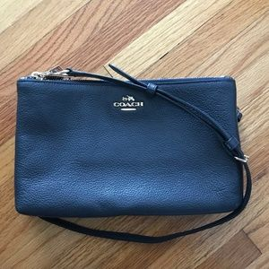 Coach Navy Crossbody Purse Bag Clutch